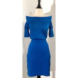 Akris Off the Shoulder Blue Dress 6